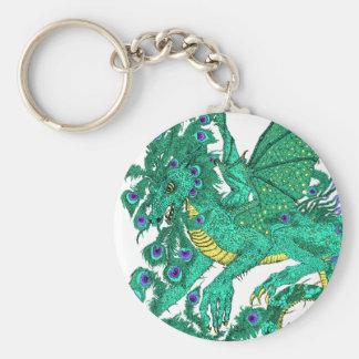 Peacock Dragon Key Ring