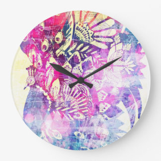 Peacock Dreamz Large Clock