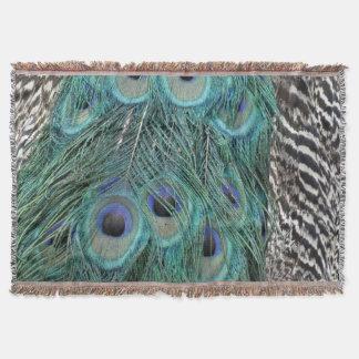 Peacock Dynasty Throw Blanket