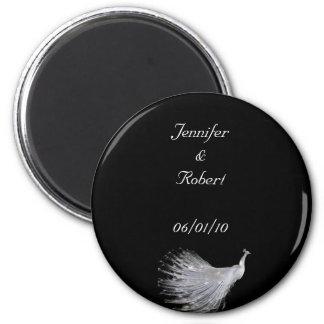 Peacock Elegance 6 Cm Round Magnet