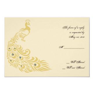 Peacock Elegance Art Deco Flair Response Card Invite