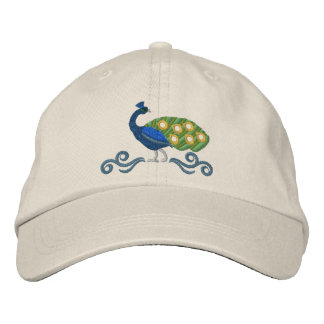 Peacock Embroidered Hat