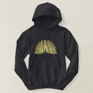 Peacock Embroidered Hoodie