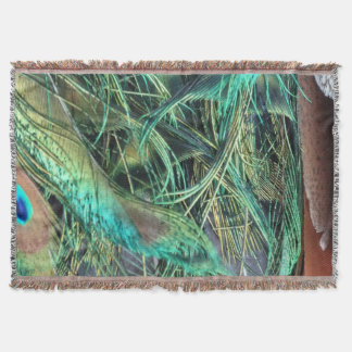 Peacock Exotic New Growth Throw Blanket