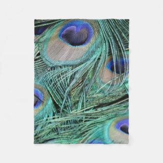 Peacock Eye Droplets Fleece Blanket