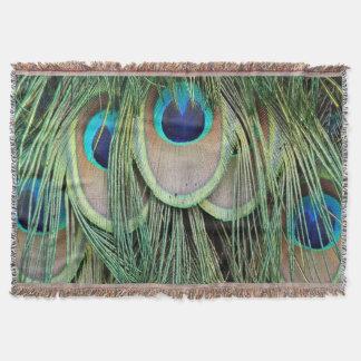 Peacock Eye Droplets Throw Blanket