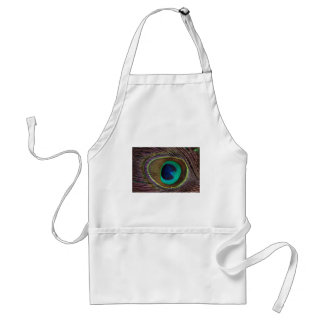 Peacock Eye Feather Standard Apron