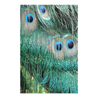 Peacock Eye Feathers Stationery