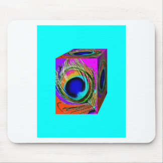 Peacock  eYE Freather Box Design by SHARLES Mouse Pad