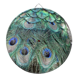 Peacock Eyes And Feathers Dartboard