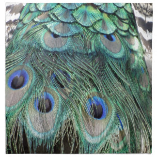 Peacock Eyes And Feathers Napkin