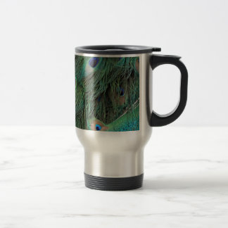 Peacock Eyes And Feathers Travel Mug