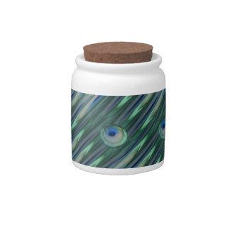Peacock Eyes Candy Jar