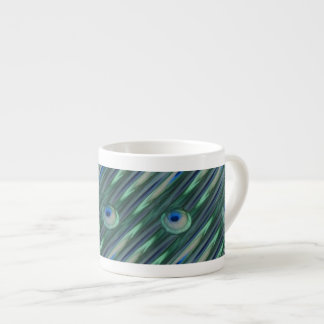 Peacock Eyes Espresso Mug