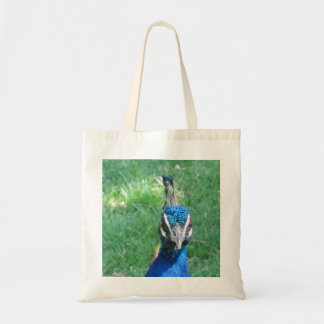 Peacock Face Budget Tote Bag