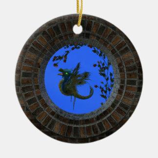 Peacock Fairy Dragon Christmas Ornament