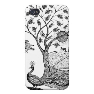 Peacock Fantasy Case For The iPhone 4