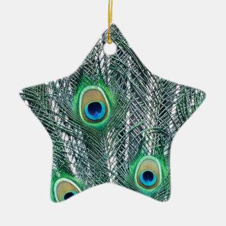 Peacock Fantasy Ceramic Star Decoration
