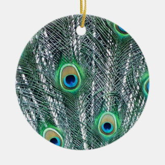 Peacock Fantasy Christmas Tree Ornaments