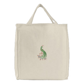 Peacock Fantasy Tote Embroidered Bag