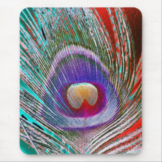 Peacock Feather 3 Mouse Mat