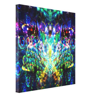 Peacock Feather Abstract Design Canvas Print