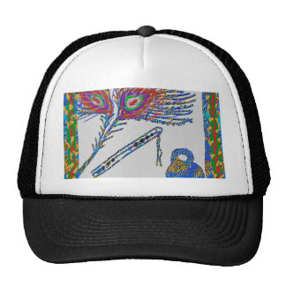 Peacock Feather and Flute - Hare Krishna Cap