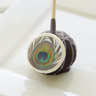 Peacock Feather Avian Cake Pops