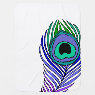 Peacock Feather baby blanket