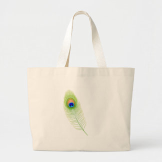 Peacock Feather Canvas Bags