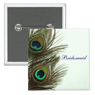 Peacock Feather Bridesmaid Pin