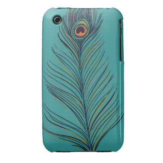 Peacock Feather iPhone 3 Cases