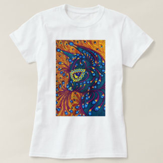 Peacock Feather Cat, Louis Wain T-Shirt