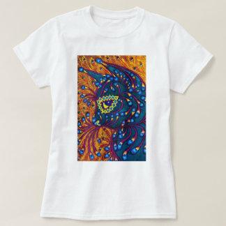 Peacock Feather Cat, Louis Wain T-Shirt