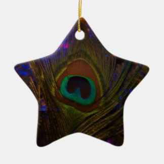 Peacock Feather Christmas Star Christmas Ornament
