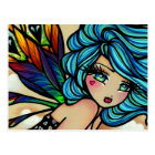 Peacock Feather Cloud Fairy Fantasy Postcard