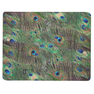 Peacock feather collage journal