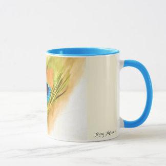 'Peacock Feather' custom Mug lk