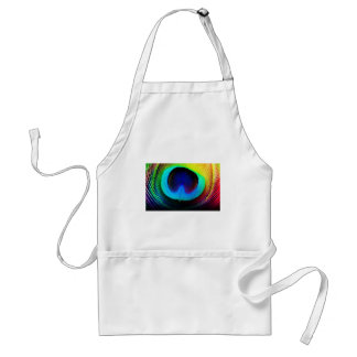 Peacock Feather Design Adult Apron