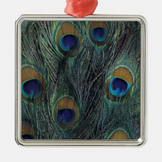 Peacock feather design christmas ornament