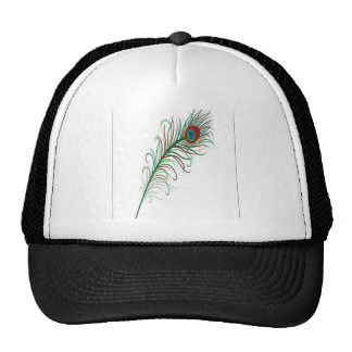 Peacock feather design trucker hats