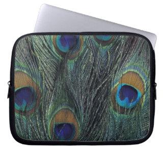 Peacock feather design laptop sleeve