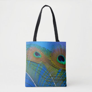 Peacock Feather Design Tote Bag