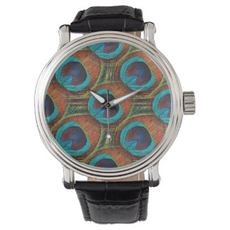 Peacock Feather design Watch