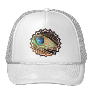 Peacock Feather Designs Baseball Hat