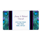Peacock  Feather Drama -  Address Label
