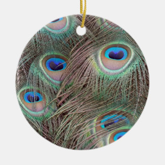 Peacock Feather Eyes Christmas Ornament
