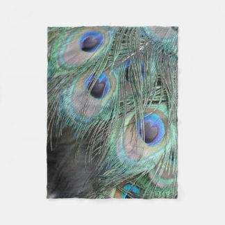 Peacock Feather Eyes Fleece Blanket