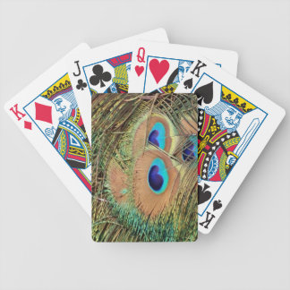 Peacock Feather Face Bicycle Playing Cards