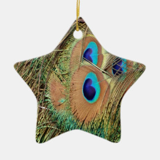 Peacock Feather Face Christmas Ornament